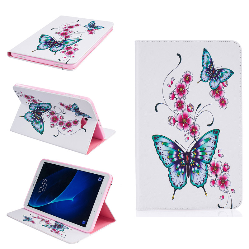 T580 T585 Case for samsung galaxy tab A 10.1 SM-T580 SM-T585 10.1 tablet smart PU leather print case