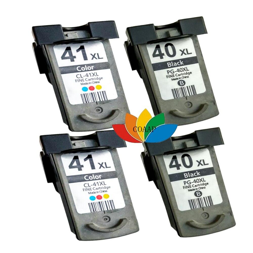 4pcs PG-40 CL-41 PG40 CL41 Ink Cartridge For Canon Pixma MP140 MP150 MP160 MP180 MP190 MP210 MP220 MP450 MP470 printer 3x remanufactured ink cartridge pg40 cl41 pg 40 cl 41 for canon pixma ip1700 ip1800 ip1900 mp470 mp450 inkjet printer