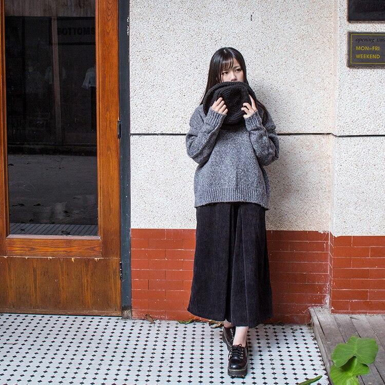 Mujer 2019 Otoño Piernas De Negro E Grandes Ancha Retro Pantalones Pierna Japoneses Pana Linterna Invierno Nueve Y H8rxwHPZ
