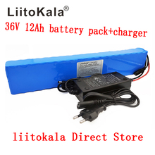 LiitoKala 36V 12Ah 500W High power&capacity 42V 18650 lithium battery pack ebike electric car bicycle motor scooter with BMS liitokala 36v 8ah battery pack high capacity lithium batter pack include 42v 2a chager
