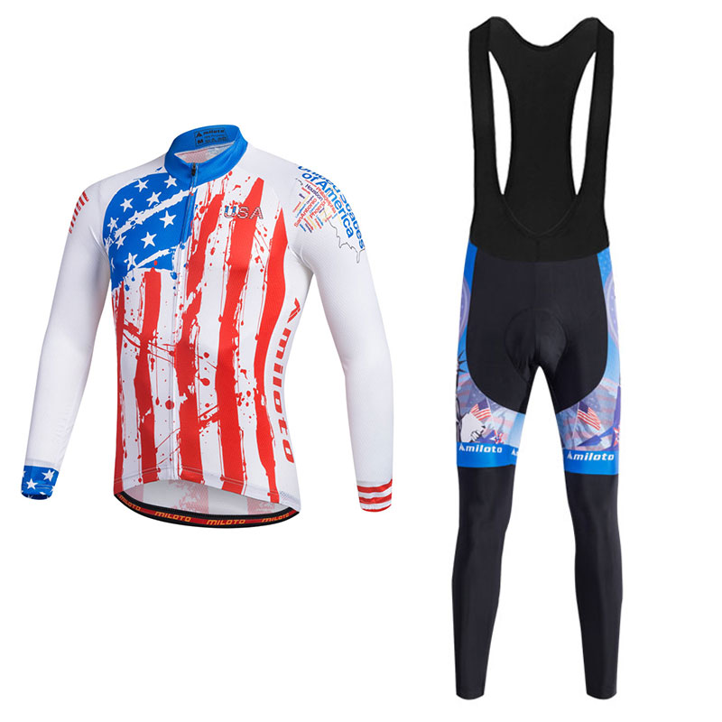 MILOTO Newest Cycling Clothing Mens Cycling Jerseys Sets Maillot Ciclismo Bike MTB Road Ropa Ciclismo Long Sleeved Clothing