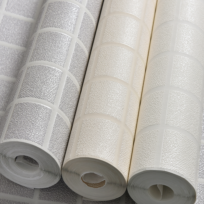 3D Stereoscopic Relief Non-woven Wall Paper White Square Grid Pattern Wallpaper Modern Art Living Room Bedroom Wall Wallpaper non woven bubble butterfly wallpaper design modern pastoral flock 3d circle wall paper for living room background walls 10m roll