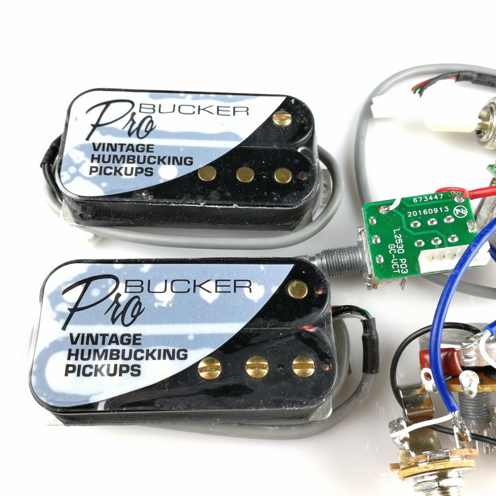 1 Set Lp Electric Guitar Pickup Wiring Harness For Epi Sg Dot Used Gibsonstyle Humbucking W Pots Switch And Probucker Neck Bridge Humbucker Pickups With Pro