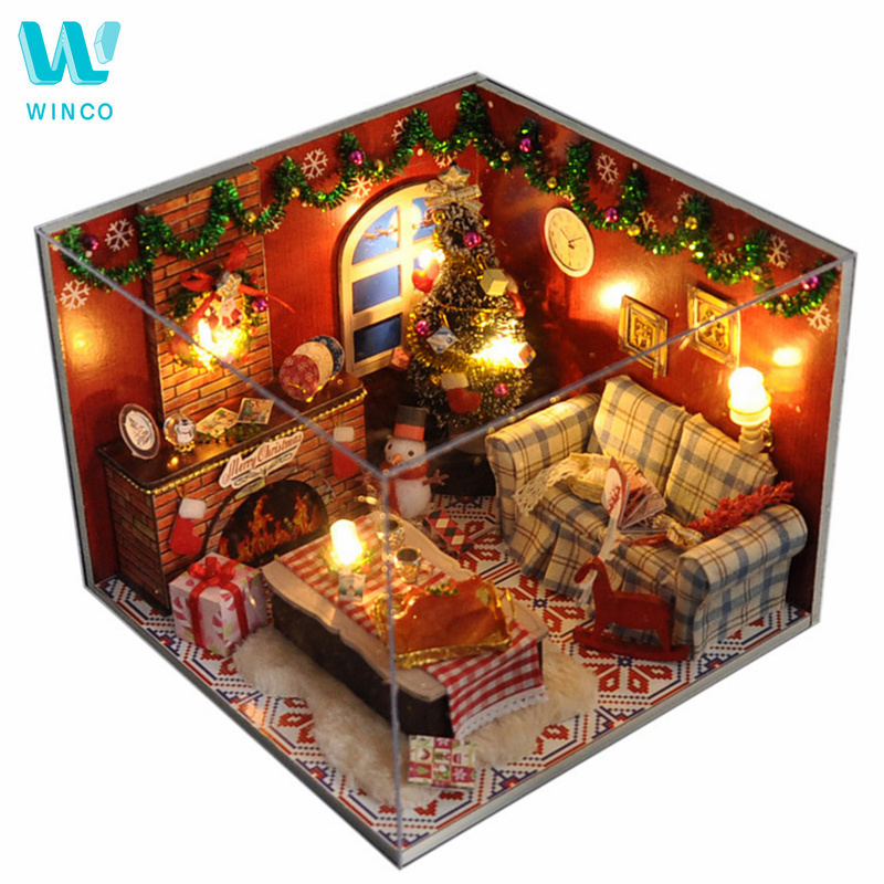 Winco Christmas Eve Hours.Us 4 07 50 Off Winco Doll House Miniature Diy Dollhouse With Furnitures Mini Wooden House Christmas House Toys For Children Best Birthday Gift In