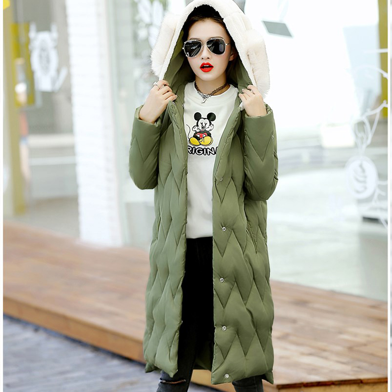 Women Winter Cotton Full Sleeve Fur Collar Coat Warm Parkas Female Overcoat Solid Color Fashion Style  Big Size Hooded Jacket women winter coat leisure big yards hooded fur collar jacket thick warm cotton parkas new style female students overcoat ok238