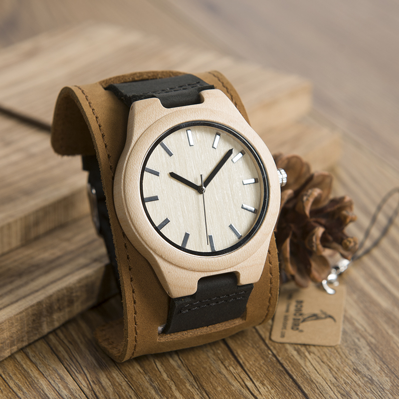 BOBO BIRD Mens Top Brand Mapel Wood Watches Chicago Bracelets Soft Leather Bands Straps With Gift Box Drop Shipping Relog chicago top 10