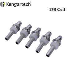 20 sztuk partia oryginalny Kanger T3S cewka grzewcza 1 8ohm 2 2ohm 2 5ohm Atomizer wymiana rdzenia dla Kangertech T3S Atomizer tanie tanio Kanger T3S Heating Coil Kanger T3S atomizer DS Dual 1 8ohm 2 2ohm 2 5ohm 3 2 - 3 7V 510 thread