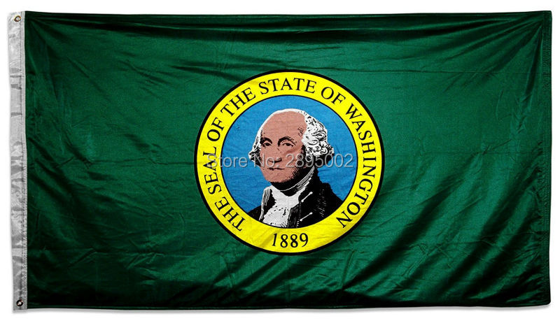 Washington State Flag Polyester grommets 3 x 5 Banner metal holes Flag