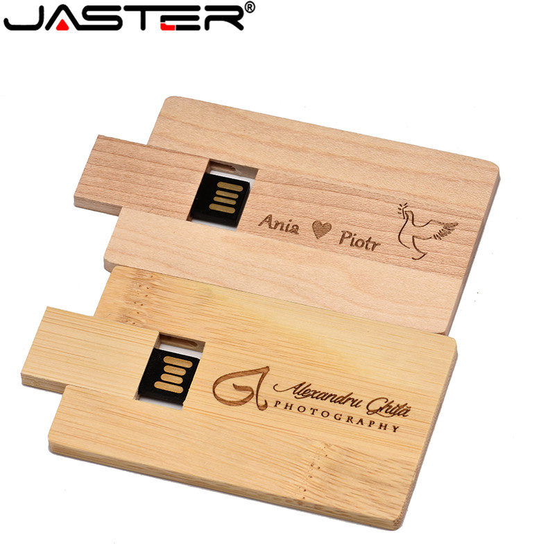 (over 1 PCS Free LOGO) Wooden Pendrive Card Usb Flash Drive USB Stick Pendrive 4GB 8GB 16G 32GB Usb Stick USB 2.0