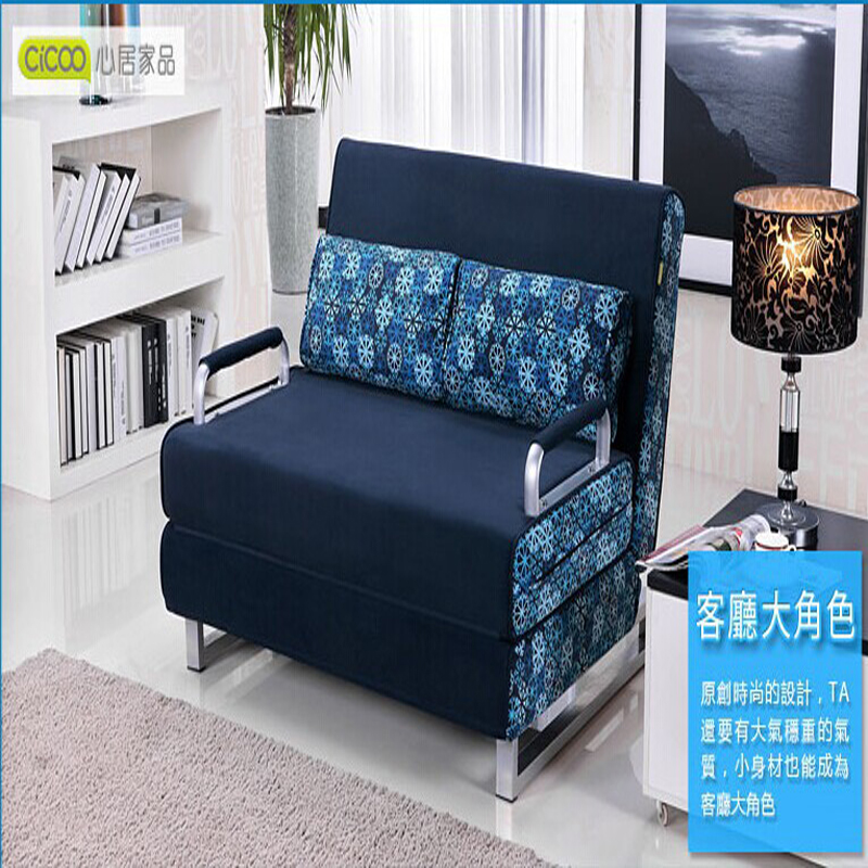 Aliexpress.com : Buy 100% Cotton Sofa Bed High Resilience Foam Sponge Sofa  Folding Sofa Set Multifunction Living Room Metal Sofa Bed 1.5*1.9,6 Color  From ...