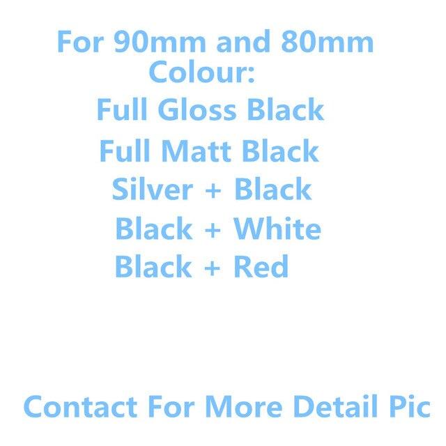 New 3D ABS Chrome Silver 80mm 90mm car badge white  red gloss black matt black