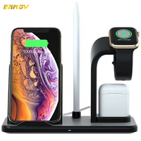 ENMOV For iWatch Wireless Charger Airpods Wireless Charger Phone Charger 3in1 Qi Wireless Smart Charger Desk Phone Holder