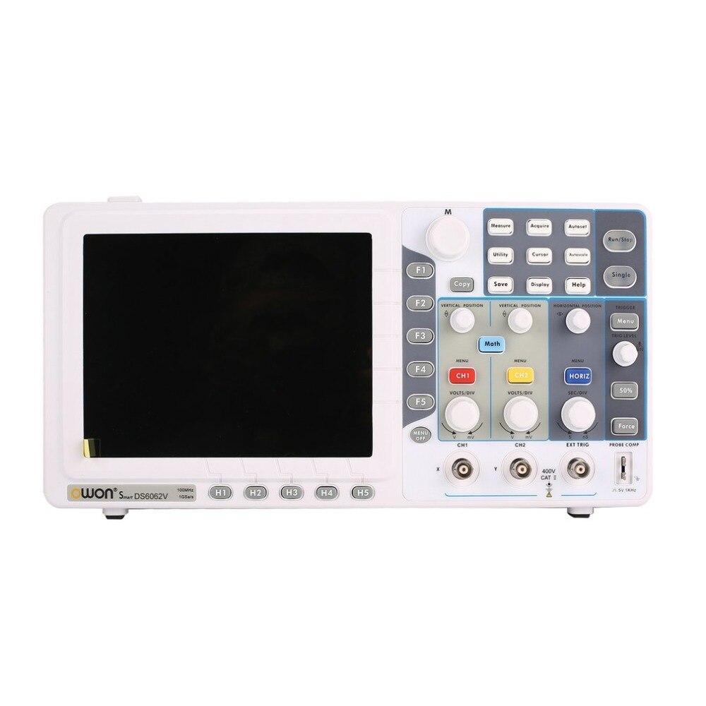OWON SDS6062V/SDS7072V/SDS7102V Doppio canale Display LCD Profonda Memoria Oscilloscopio a memoria Digitale Scopemeter Ambito Meter 60MH