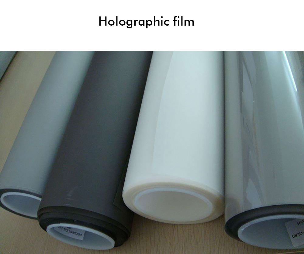 Advertising hologram holographic rear adhesive film projection 3D projector screen film foil for window shop church hotel hall-1 (2)