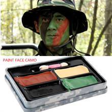 Army Fans 4 Colors CS Field Simulate Face Paint Camouflage Greasepaint Makeup Body Oil for Outdoor Colored Drawing