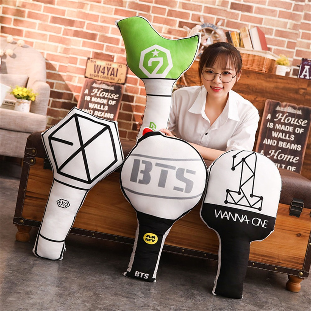 Novelty & Special Use Hearty Kpop Bts Exo Got7 Twice Army Wanan One Bt21 Army Bomb Light Stick Plush Throw Pillow Cute Sofa Cushion New Gifts Costume Props