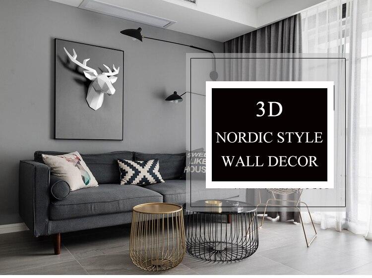 de suspensão decoração da sala de estar elk escultura abstrata