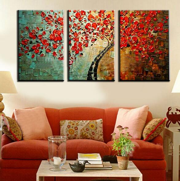 3 Panel Modern Kitchen Canvas Paintings Red Wine Cup Oil Painting Set Wall Art Picture For