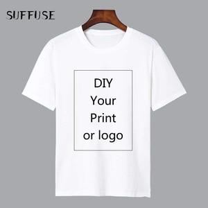 Image 1 - Camiseta de impresión personalizada, camiseta DIY con foto o logotipo, camisetas blancas, talla S 4XL, proceso de transferencia térmica, 2 100 Uds.
