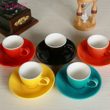 Jia-gui luo 1 Can Promotion! 70ML / 80ml, high-grade ceramic coffee cup set simple European cappuccino