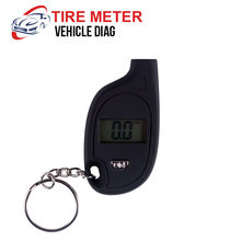Mini LCD Digital Tire Tyre Keychain Air Pressure Gauge For Car Auto Motorcycle W310(China)