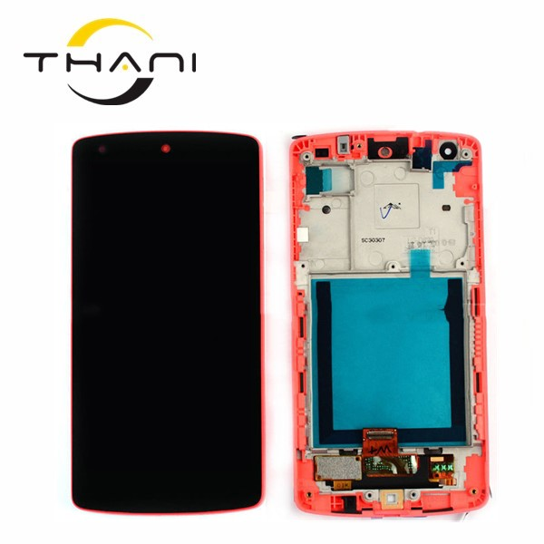 Original new For Lg Google Nexus 5 D821 D820 Lcd Screen Display With Touch Screen Display With Frame Assembly Together Red Color