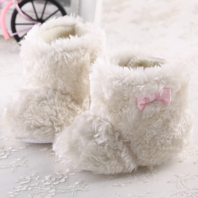 Aliexpress.com : Buy Infant Booties Winter Boots White Fur Boots ...