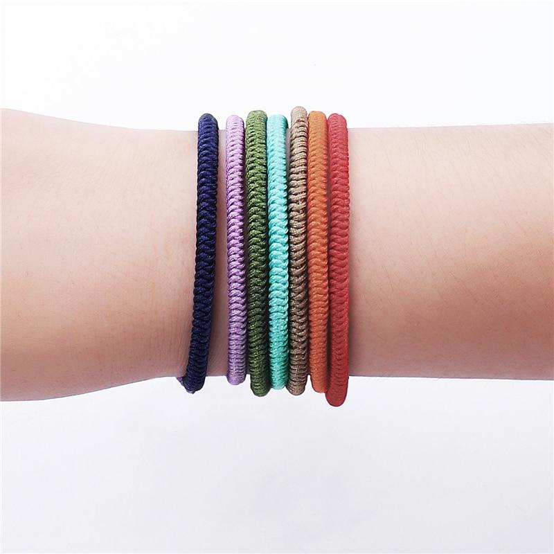 Tibetan Buddhism Hand Weave Knots Lucky Bracelet For Women7 Chakra YOGA Rope OM Bracelets&Bangle