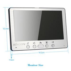 Image 5 - إنتركوم مرئي بجرس باب 7 بوصة, جهاز اتصال داخلي/إنتركوم بشاشة TFT LCD مزودة بنظام هاتف للباب بنظام مراقبة داخلي 700TVL تدعم أقفال الأبواب التي تعمل بالأشعة تحت الحمراء