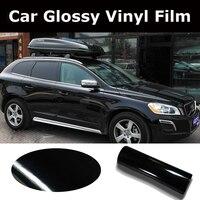 1.52*5/15/20/30M High Gloss Black Vinyl Wrap Car Wrap with Air Bubble Shiny Black Vinyl Ultra Glossy Wrap Film