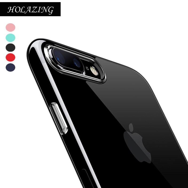 Holazing оптовая продажа прозрачный гель ТПУ Резиновая Мягкий силиконовый чехол для iphone 8 Plus ультра тонкий защитный кожного покрова