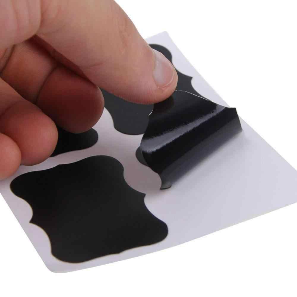 36 ชิ้น/เซ็ตกระดานดำสติกเกอร์สติกเกอร์ครัวกระดานไวท์บอร์ด 5 ซม.x 3.5 ซม.กระดานสีดำ