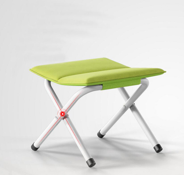 Fashion Portable Folding Stool Portable Home Outdoor Fishing Chair Portable  Folding Chair With Thick Canvas SE27