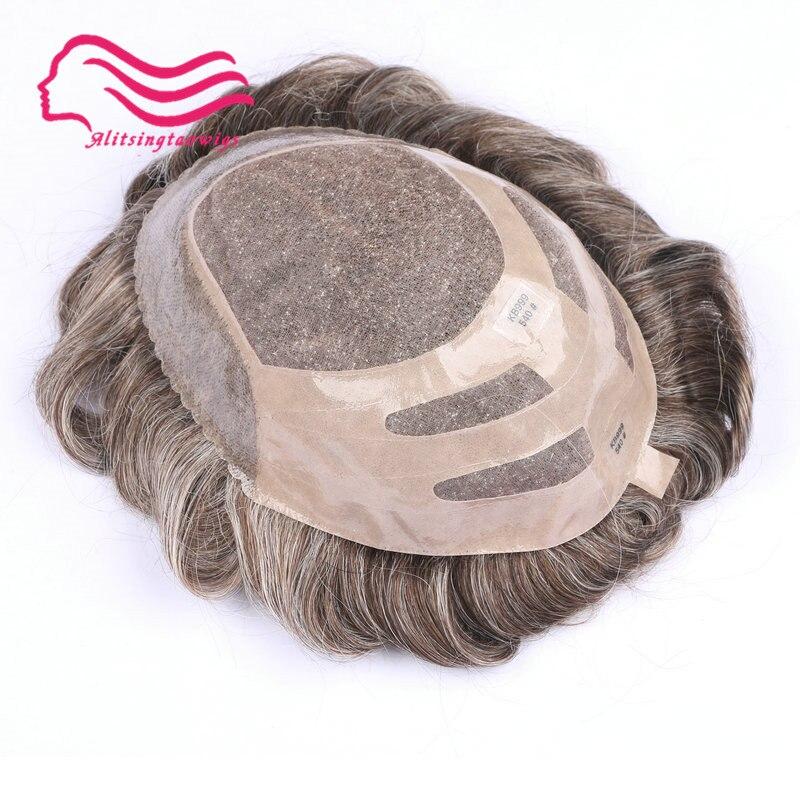 Frete grátis durable belas mono com NPU peruca de cabelo, recolocação do cabelo, sistema de cabelo, peruca de cabelo!