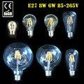 NEW E27 ST64 G125 G95 A60 2W 6W 8W Warm White LED Vintage Retro Filament Light Lamp Bulbs 85-265V