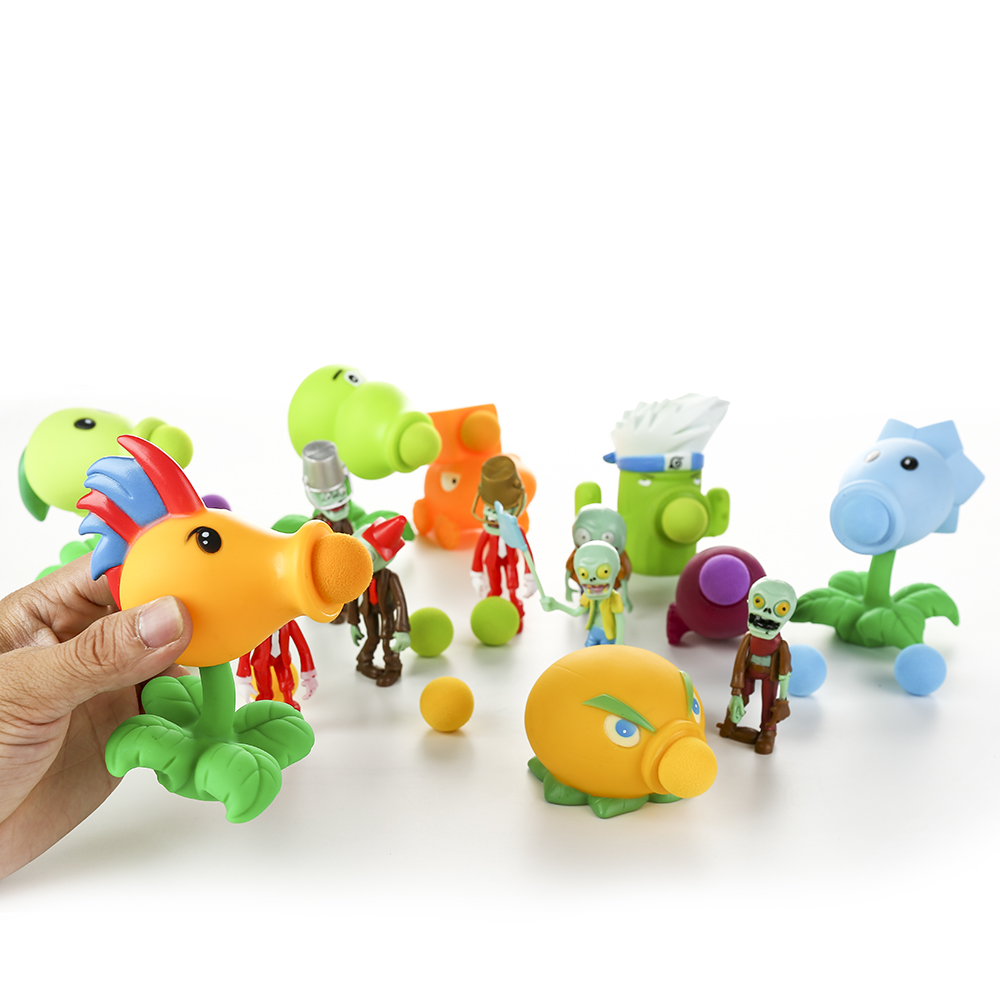 27styles PVZ Plants Vs Zombies Peashooter PVC Action Figure Model Toy Gifts Toys For Children High Quality Brinquedos