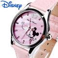 Children watch Disney brand girls Minnie waterproof quartz Wristwatch girl  Diamond Leather kids clocks Cartoon relogio