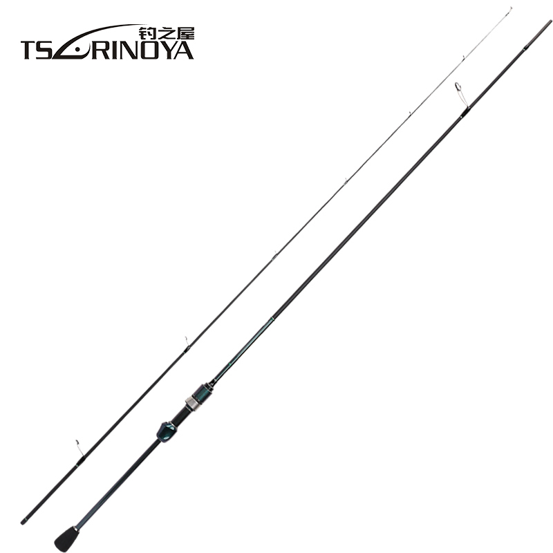 TSURINOYA 1.89m UL Carbon Spinning Fishing Rod 2 Sections EVA Handle FUJI Guide Ring Lure Rod Fast Action 0.6-8g Lure Weight tsurinoya 1 89m ul 100% carbon fiber rod spinning fishing rods casting travel rod 4 sections fast action fishing lure rod