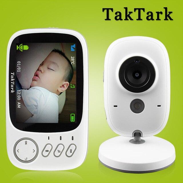 TakTarkไร้สายขนาด3.2นิ้วสีเด็กแบบพกพาBaby Nanny Securityกล้องIR LED Night Vision Intercom
