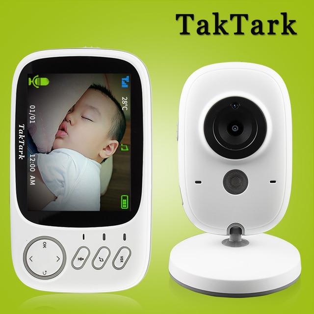 TakTark 3.2 אינץ אלחוטי וידאו צבע תינוק צג נייד תינוק ביטחון מטפלת מצלמה IR LED ראיית לילה אינטרקום