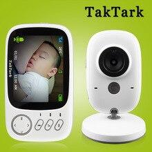 Taktark 3.2インチワイヤレスビデオカラーベビーモニターポータブル赤ちゃんの乳母防犯カメラir ledナイトビジョンインターホン