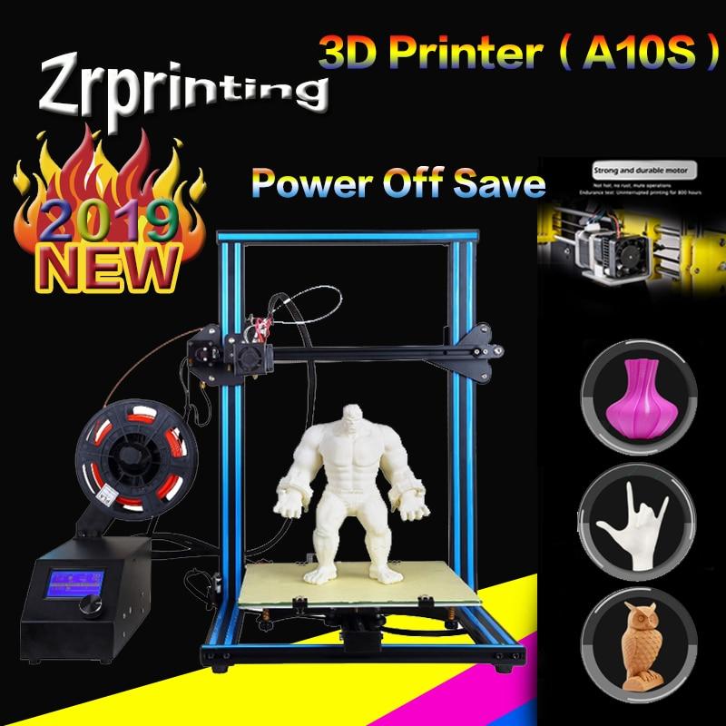 A10S 3D Printer - Upgrade Dual Z Rod axis - DIY Desktop Kit - With PLA  Filament 3d printer stereo printer