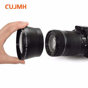 New 2.0X High Definition Telephoto Conversion Lens for Canon EOS Rebel T6 Only for Lenses with Filter Sizes of 52, 58, 62mm