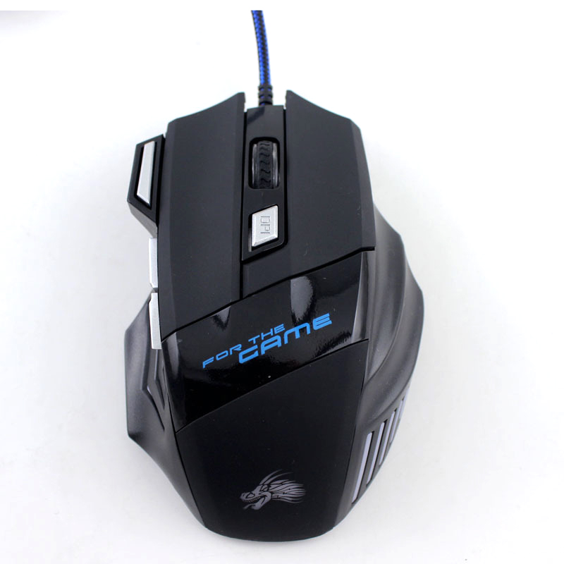 For PC Mac Laptop Game for LOL Dota Mouse 5500DPI LED Optical USB Wired Gaming Mouse 7 Buttons Gamer Computer Mice