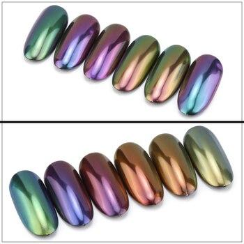 TCT-249 Unicorn Chameleon Powder Magic Powder Multi Chrome Nail Powder Rainbow Powder Nails Glitter Aurola Glitter Henna Makeup фото