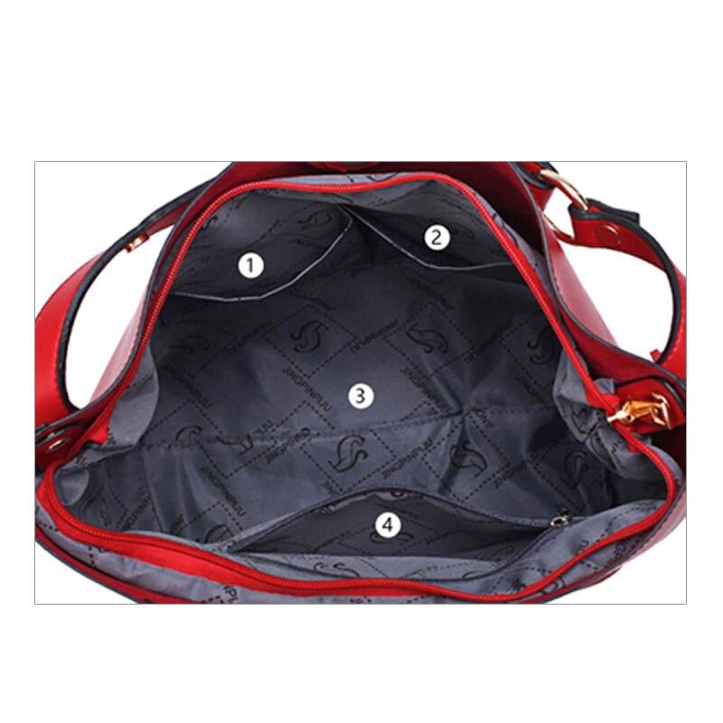 b999155b2d8 Bonsacchic Small Women s Shoulder Bag Female Bucket Bag for Girls Red Bag  Leather Bags Women Handbags 2017 bolsa mujer sac femme-in Shoulder Bags  from ...