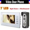 Новый 7 дюймов жк-видео домофон домофонные домофонные дверной звонок домофон 1V1 жк-интерком домашней безопасности