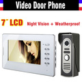 New 7 Inch Lcd  Video Intercom Door Phone Doorbell Intercom System 1V1 Video Doorphone Intercom Home Security