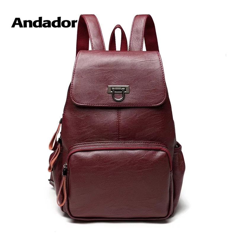 Backpacks Shoulder-Bags Teenage-Girls Female Large-Capacity School New-Fashion PU Big-Bag