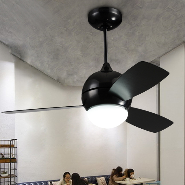 retro ceiling fans vintage look american loft fan light with remote controller fashion restaurant industrial retro ceiling 110v